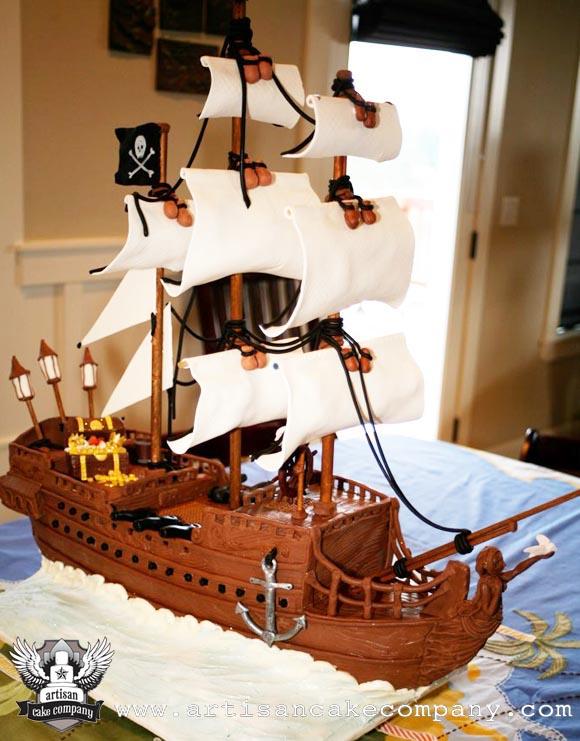 Pirate Ship Birthday Cake Artisan Cake Company