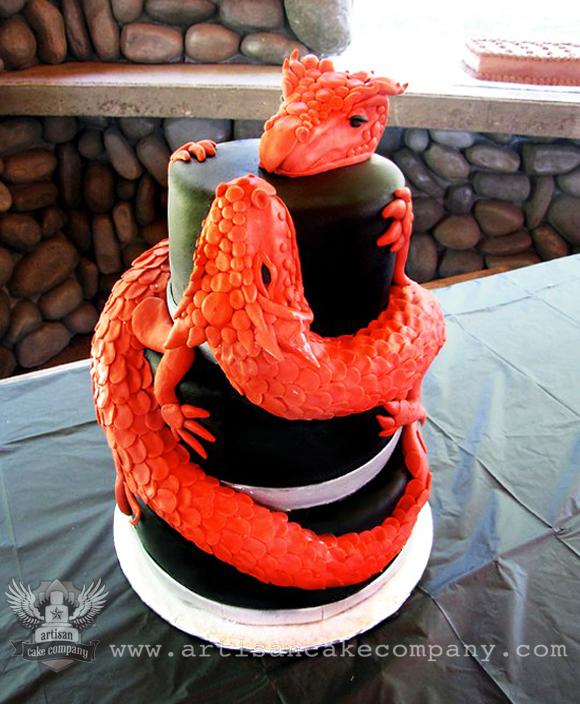 Red And Black Dragon Wedding Cake Artisan Cake Company