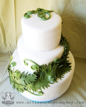 Edible Fern Wedding Cake