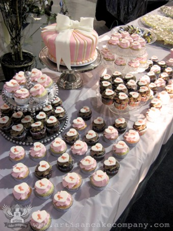 Breast Cancer Awareness Cupcakes for Fundraiser