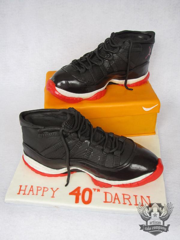How To Make A Nike Shoe Birthday Cake