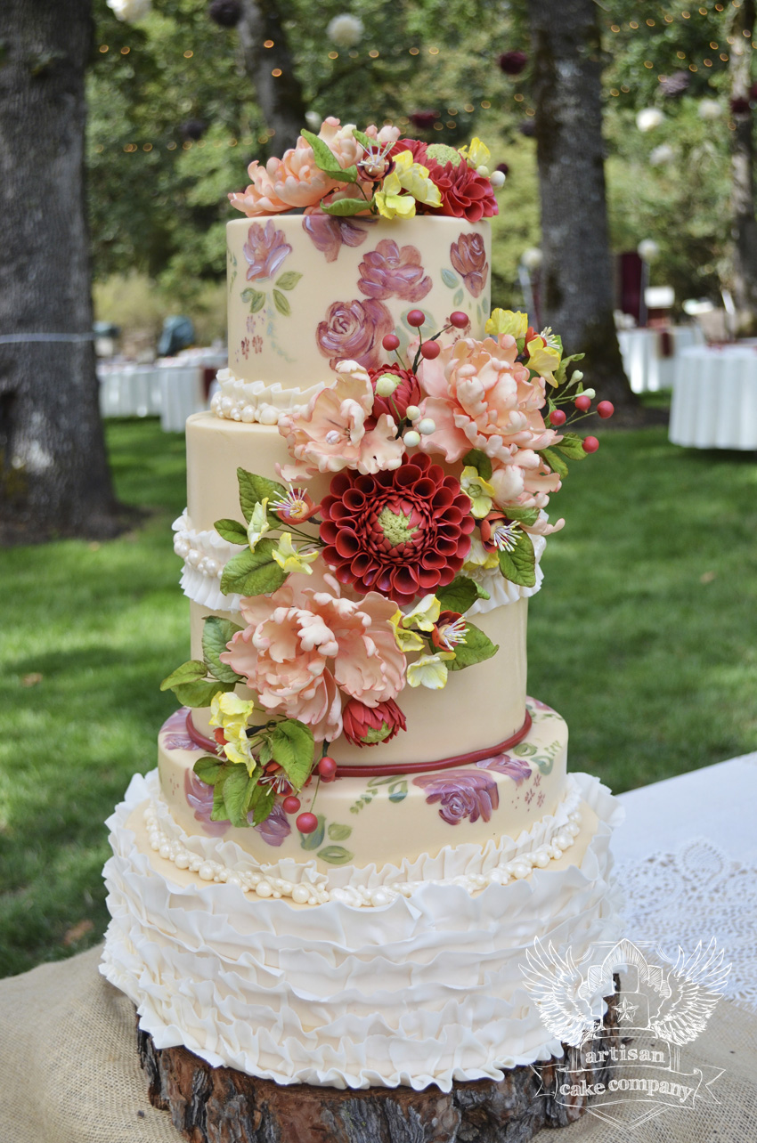 rustic country wedding cake artisan cake company