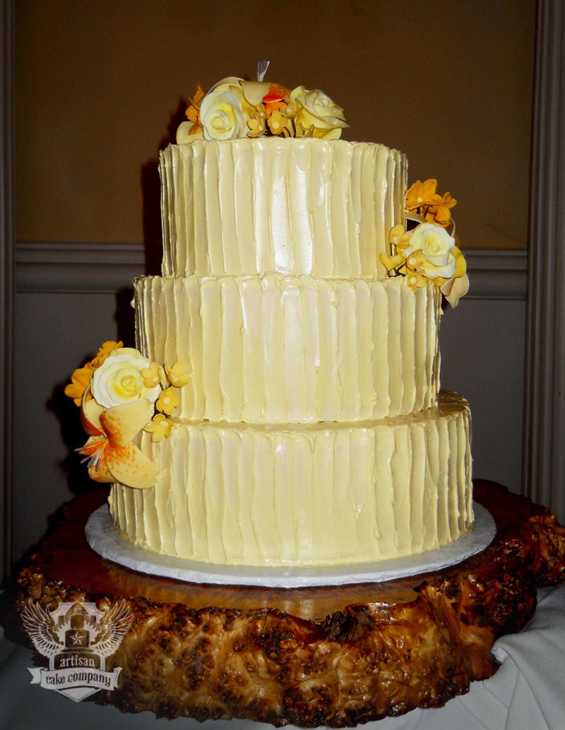 rustic yellow buttercream wedding cake | Artisan Cake Company