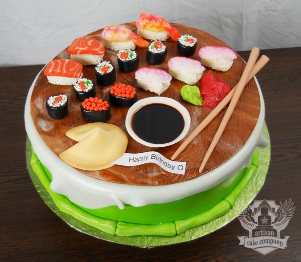 Sushi Cake Stacked cakes artisan cake