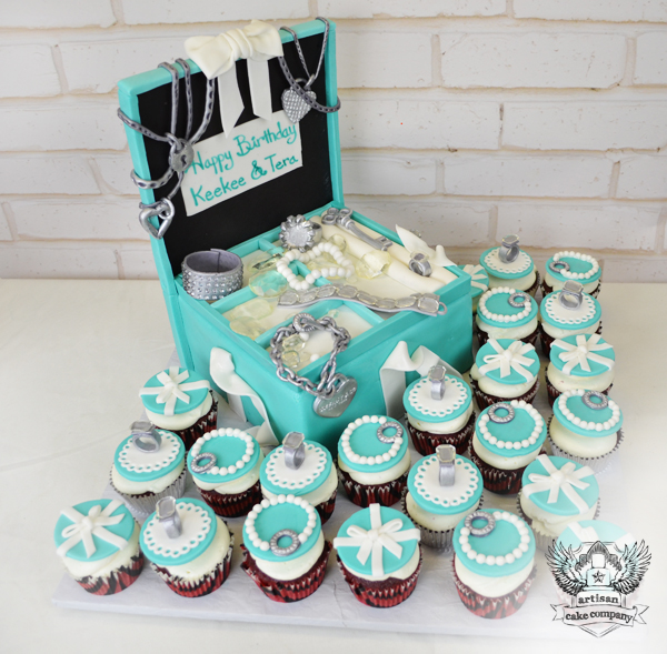 tiffany jewelry box fashion cake Artisan Cake Company