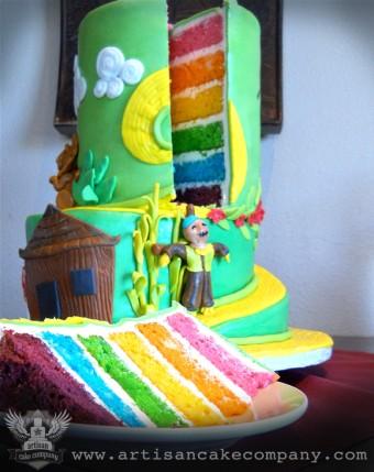 Wizard of OZ rainbow cake