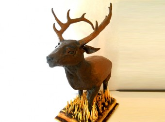 3d Sculpted Elk Cake - 47
