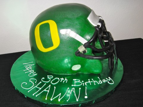 Oregon Ducks Helmet Birthday Cake
