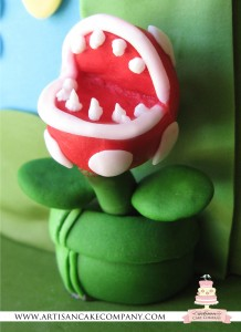 Fondant man eating plant in pipe - Super Mario Brothers