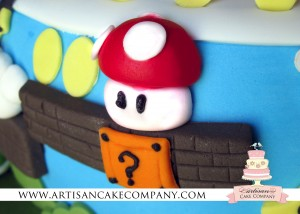 Red fondant mushroom - Super Mario Brothers