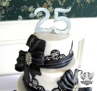 25th Anniversary Silver Topper