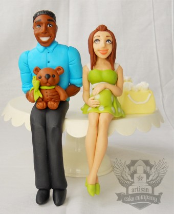 African American baby shower topper