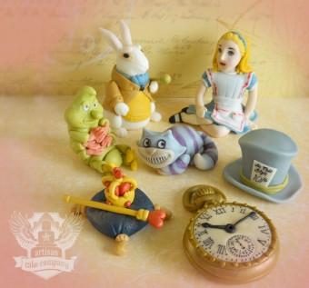 Vintage Alice in Wonderland Toppers