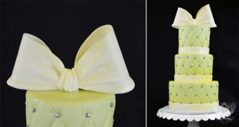 baby shower fondant bow