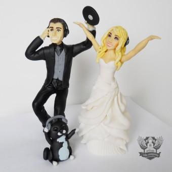 DJ Wedding Cake Topper