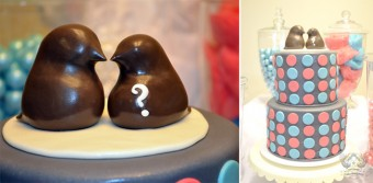 gender reveal baby shower toppers