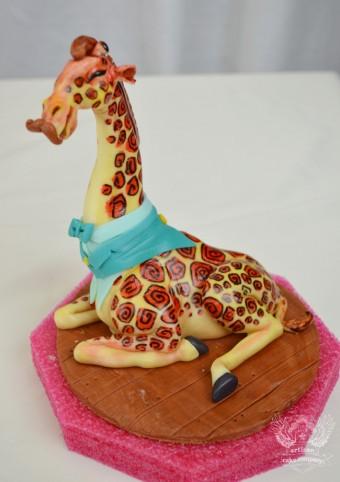 giraffe mustache bash baby shower topper