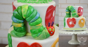 the hungry caterpillar baby shower fondant toppers