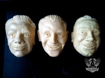 Custom mount rushmore faces toppers