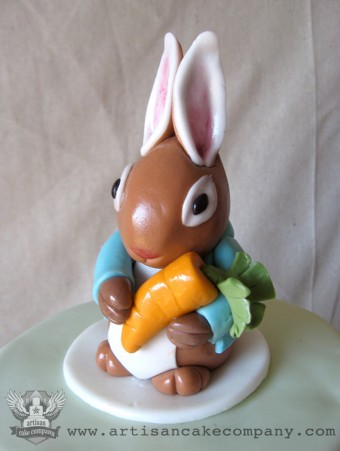 Peter rabbit baby shower topper