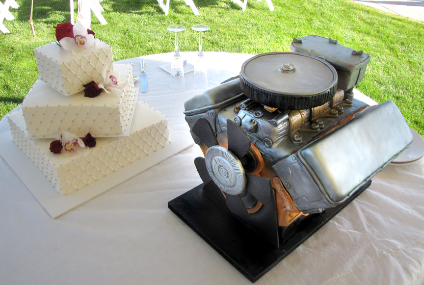How To Make A Car Engine Cake