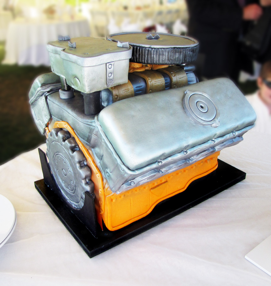 car engine cakes