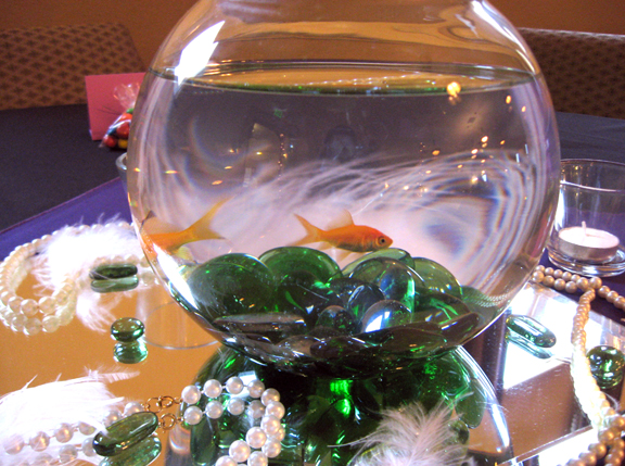 goldfish bowl table centerpieces