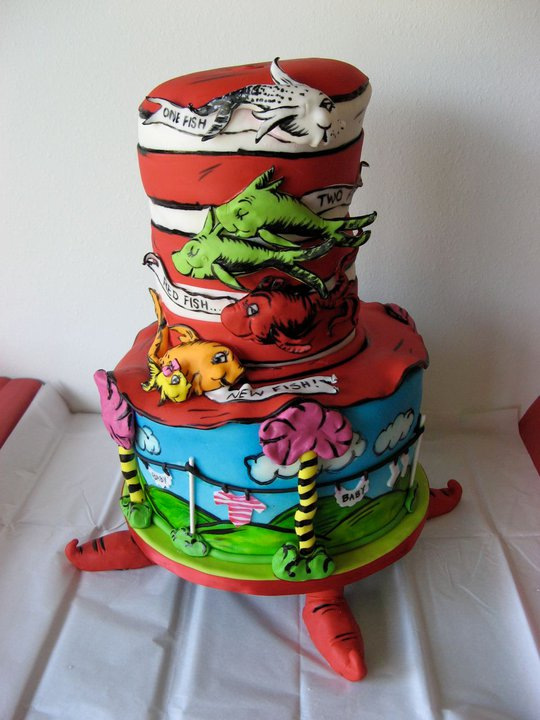 dr seuss themed baby shower cake pictures to pin on pinterest