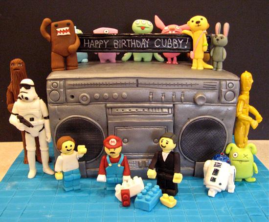 Ugly Dolls Star Wars Lego Domo Boom Box Cake Artisan Cake