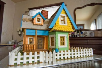 Pixar Movie Gingerbread House Based on Up