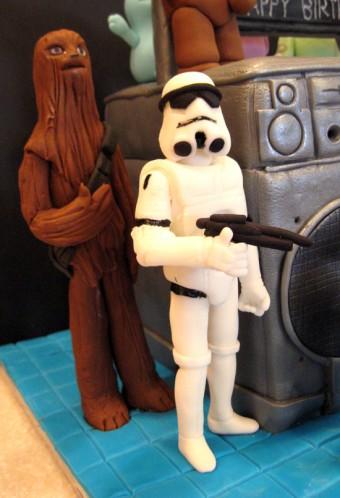 Ugly Dolls Star Wars Lego Domo Boom Box Cake