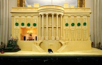 US President White House Gingerbread House