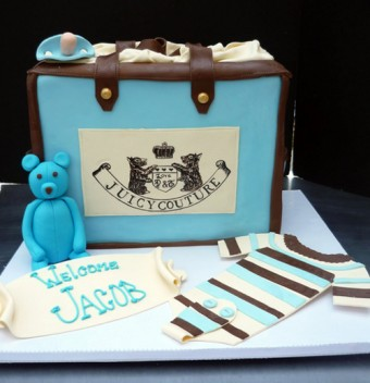 juicy couture diaper bag cake for a boy