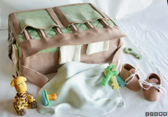 jungle themed diaper bag cake