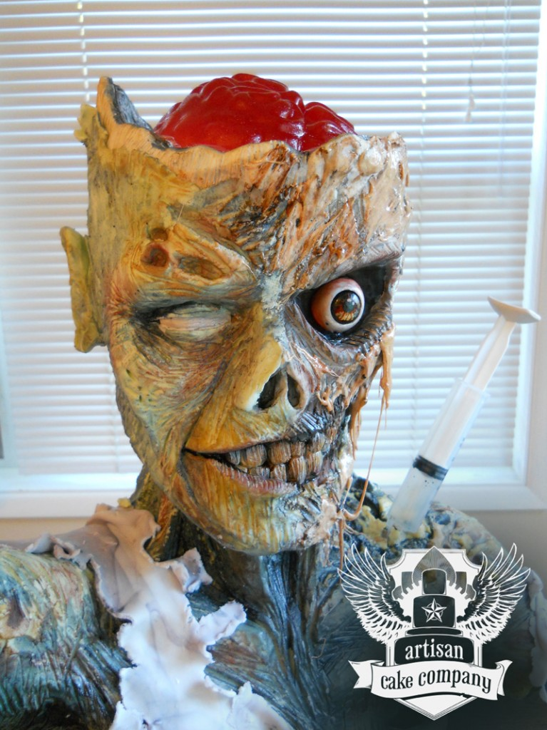 zombie cake with jello brain
