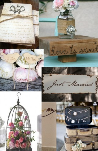 shabby chic wedding inspiration boards