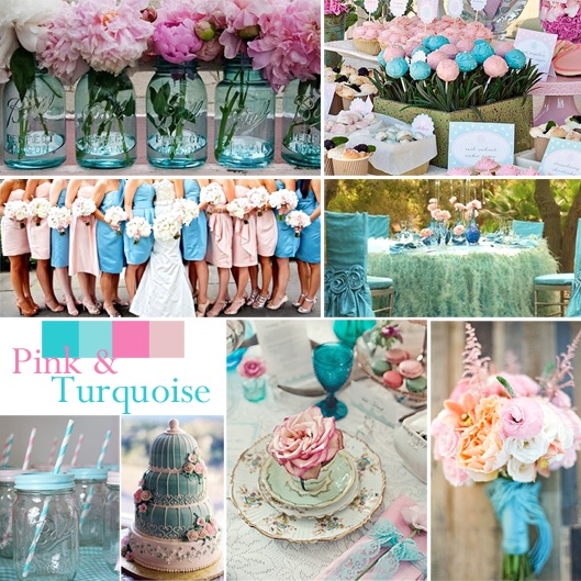 Turquoise And Red Wedding Ideas: Shabby Chic Wedding Ideas