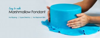 Easy to make Marshmallow Fondant Recipe. No Ripping, Super Stretchy, No Elephant Skin