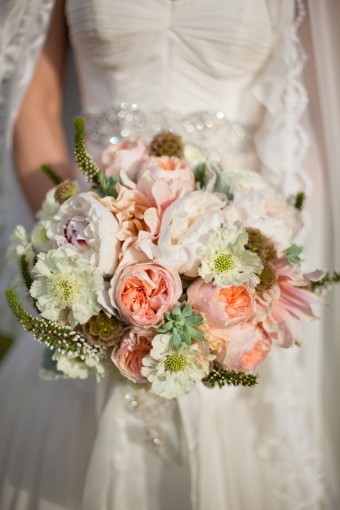 shabby chic wedding bouquets