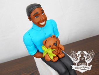 Male baby shower cake topper