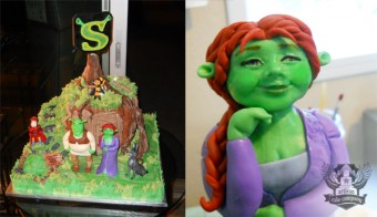 Shrek on broadway opening night cake