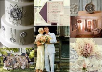great gatsby art deco wedding inspiration board