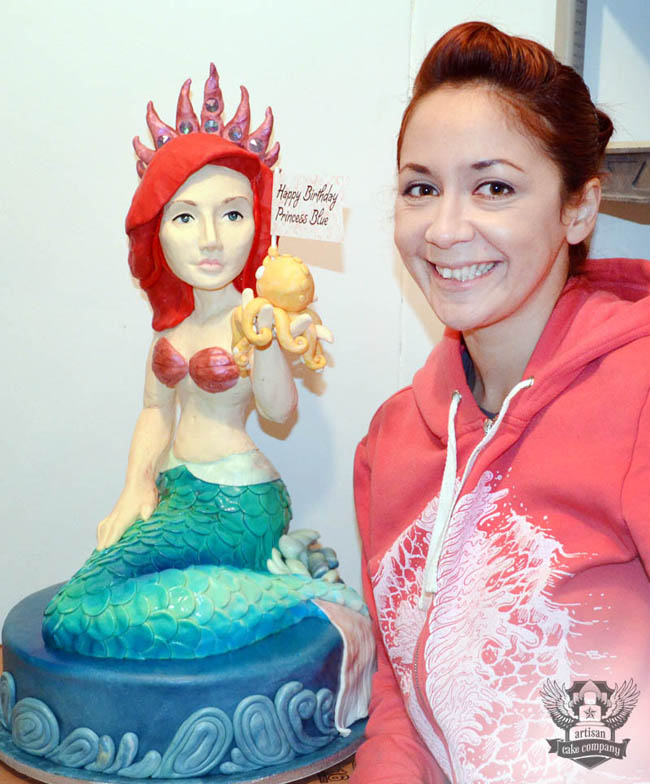 How to make a 3D sculpted mermaid cake Artisan Cake Company