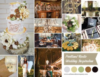 rustic portland wedding inspiration board