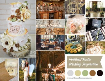 rustic portland wedding inspiration board