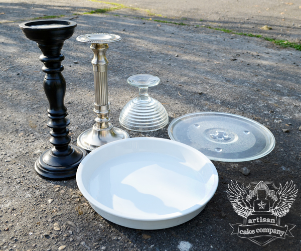 candlesticks and microwave plates & Easy DIY Cake Stands that Look like the Real Thing | Artisan Cake ...