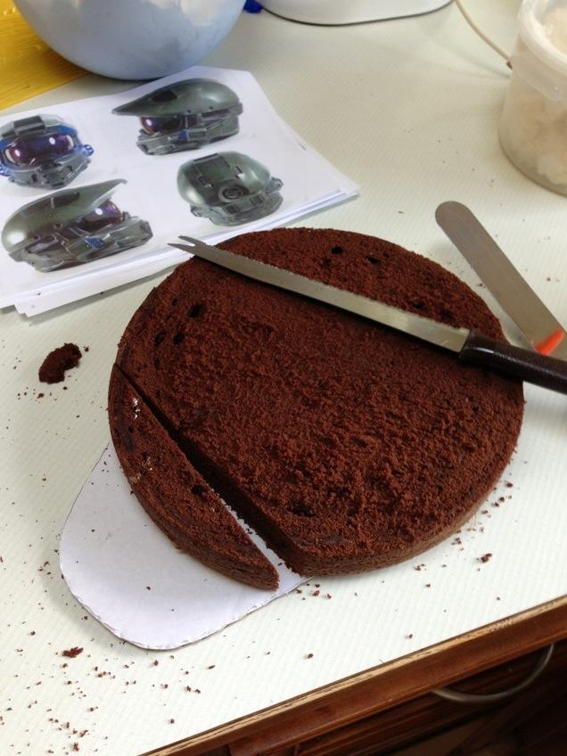 Halo helmet cake tutorial Artisan Cake Company