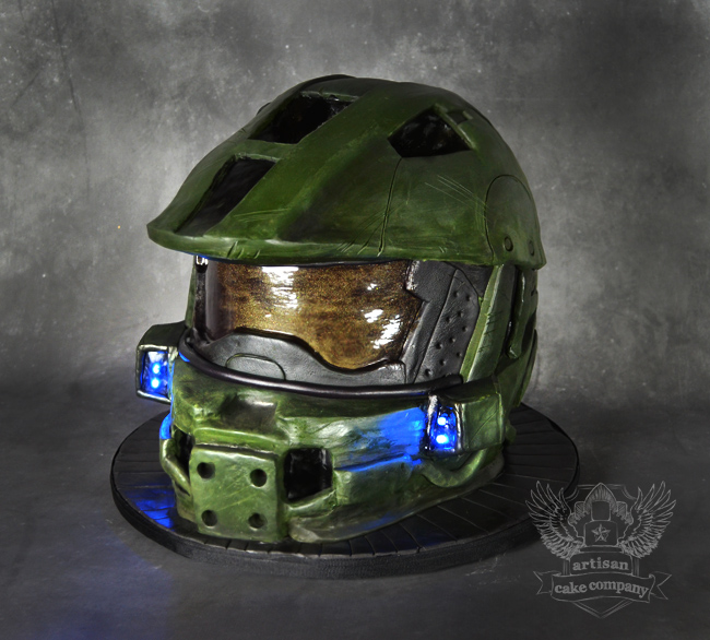 How To Make A Master Chief Helmet Cake