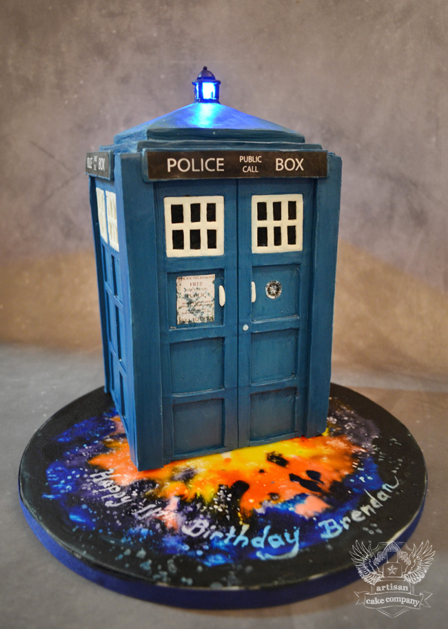 How To Make A Tardis Cake With Fondant