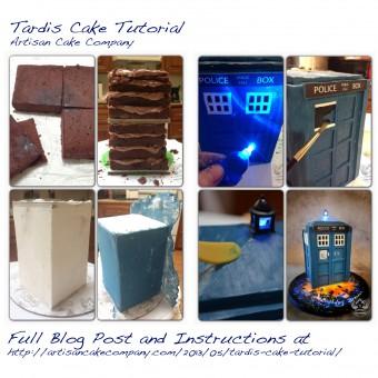 Tardis Cake Tutorial Artisan Cake Company